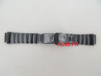 Authentic Strap Black steel Seiko watch Band 20mm 4R36-01J0 SRP311 SRP583